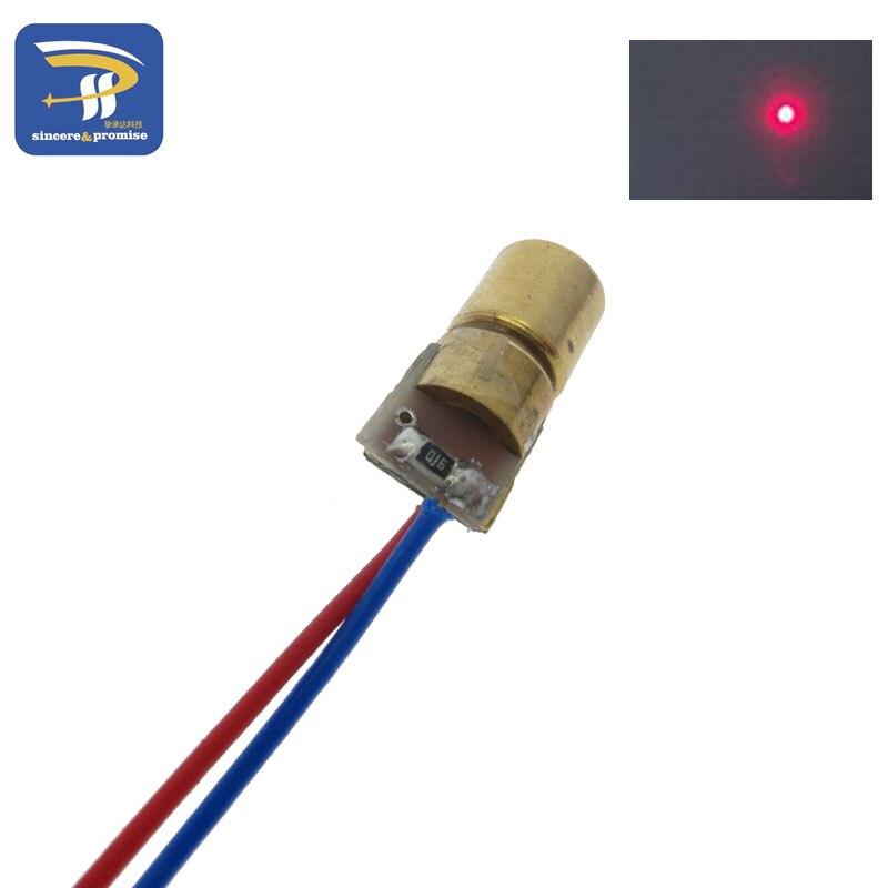 3V/5V 650nm 5mW Adjustable Laser Dot Diode With Condenser Lens And Adjustable Sleeve 1