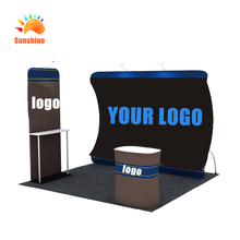 New Arrival 10ft Curved Stretch Tension Fabric Display Backdrop stand for exhibition booth or advertising