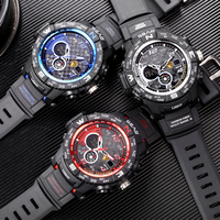 2019 New Brand SBAO Fashion Watch Men G Style Water Resistant Military Sport Watch Shock Luxury Analog Digital Sports Watches
