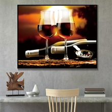 Laeacco European French Red Wine Posters and Prints Wall Artwork Canvas Painting Printed For Living Room Kitchen Home Decoration french wine