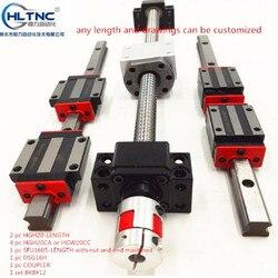2 шт. HGH20 Любая длина + 1 набор SFU1605 + 4 HGH20CA/hgw20cc линейная направляющая Высокая сборка квадратный нагрузочный шариковый винт модуль линейного дв...
