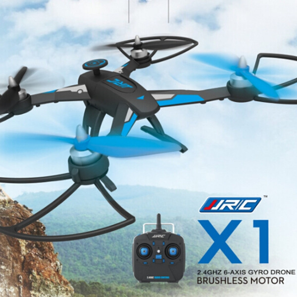 2016 Hot JJRC X1 con Motor sin escobillas 2.4 G 4CH 6-Axle RC Quadcopter RTF MODE2 Left Hand Throttle