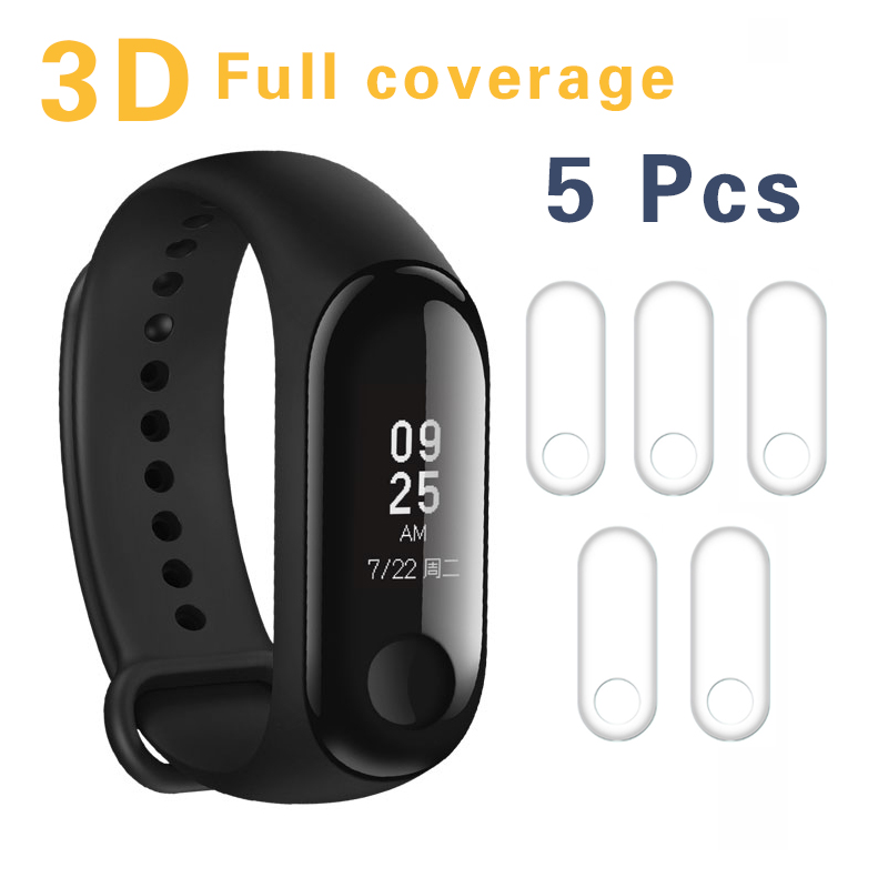 5pcs/lot For Xiaomi Mi Band 3 Band3 Screen Protector Miband3 Mi band 3 HD Ultra Thin Anti-scratch Protective Film Guard xiaomi band 3 2pcs for xiaomi mi band 3 screen protector miband3 hd ultra thin anti scratch film soft film not tempered glass