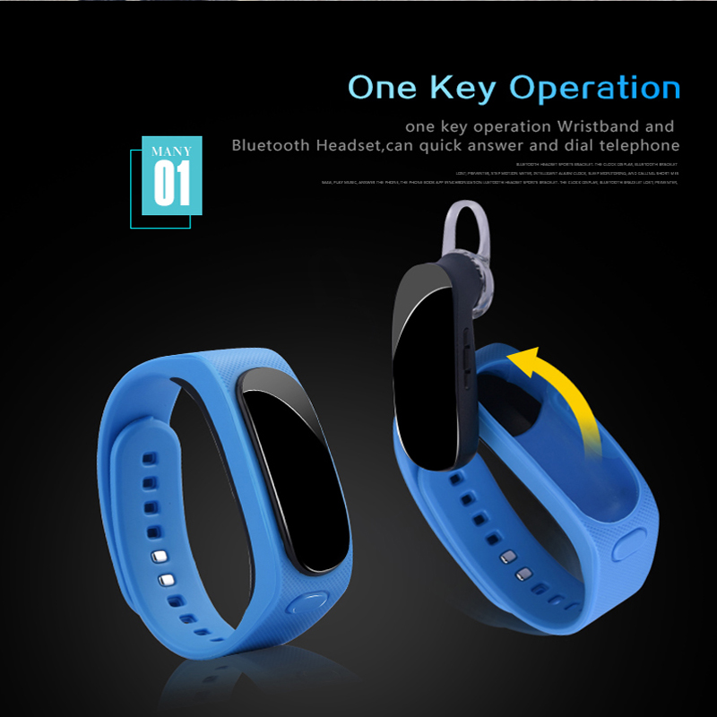 Newest B1 Talkband Bluetooth 4.0 Smart Bracelet smart band Pedometer Wristband