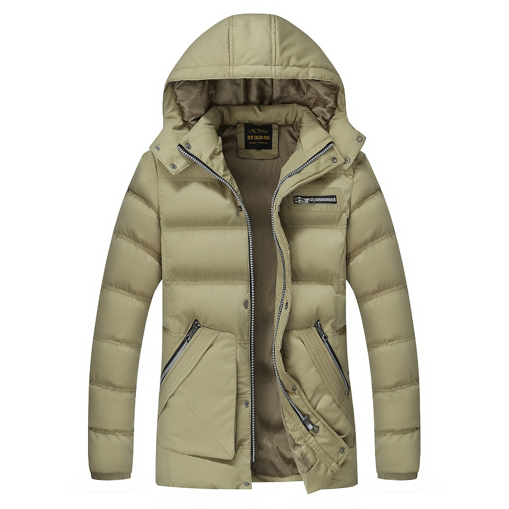 High Quality Winter Jacket Men Brand 2016 Warm Thicken Coat Famous Cotton-Padded Fashion Parkas Elegant Business Plus Size 3XL bb spf20