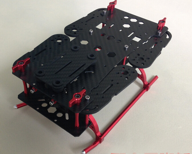 UAV Accessories LingFei QAV250 250mm 4-Axis Mixed Carbon Fiber CF Quadcopter Frame with Landing Gear for FPV(Arm thickness: 3mm) 1sheet matte surface 3k 100% carbon fiber plate sheet 2mm thickness