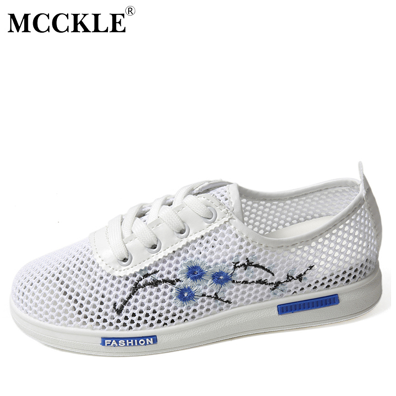 MCCKLE Women Causal Hollow Shoes Spring Autumn Lace-up Female Flat 2017 Cut-outs Comfortable Woman Ladies Platform Vulcanize mcckle 2017 fashion woman shoes flat women platform round toe lace up ladies office black casual comfortable spring