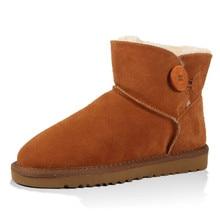 Size 35-45 Winter Boots Genuine Leather Women Boots Women Flat Shoes UG Women Warm Ankle Luxury Design Ugs Australia Boots