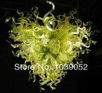 Frete grátis verde murano hand blown glass chandelier iluminação (BGC2086)
