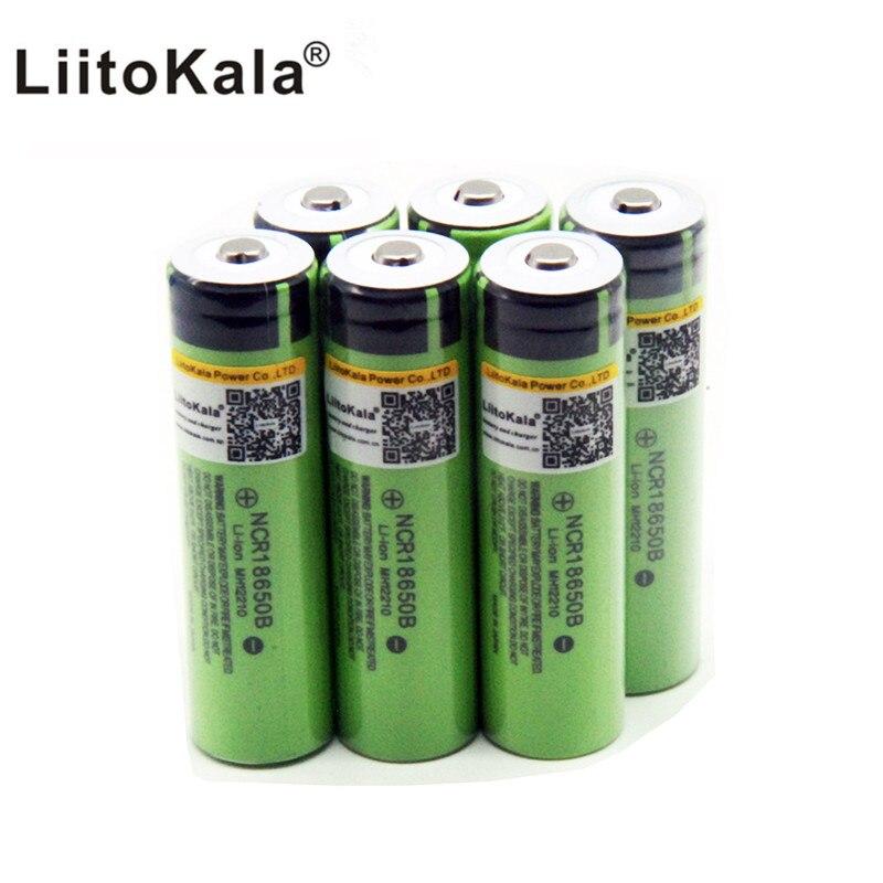 Новый оригинальный LiitoKala 18650 3400mAh аккумулятор 3,7 V Li-Ion Rechargebale батарея без PCB защищены 18650B18650 3400
