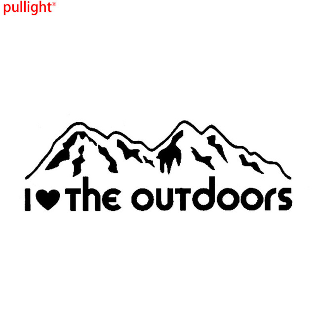 I love the outdoors vinyl car decals car stickers accessories motorcycle suvs bumper car styling