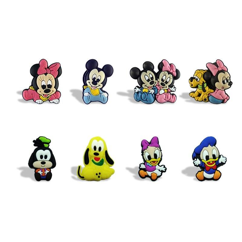 100 Stks/partij Cartoon Mickey Magneten Schoolbord Magneten Koelkast Stickers Kids Educatief Speelgoed Reizen Accessoires Bagage Tags Bekwame Productie