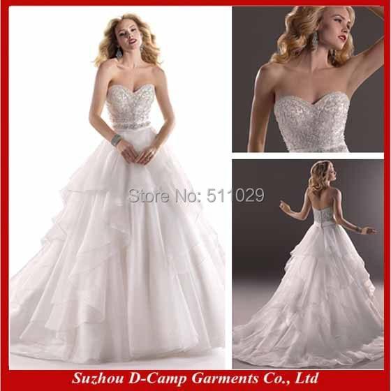 FREE SHIPPING WD 1776 Strapless sxey wedding dress crystal crochet ...