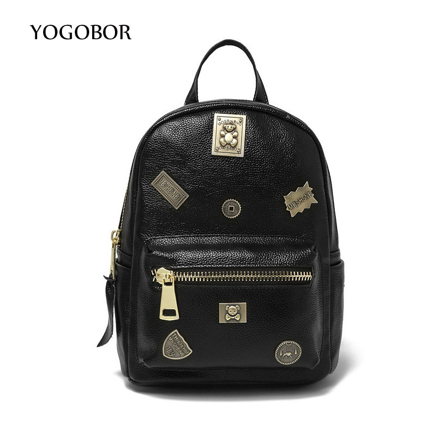 vintage casual new style leather school font b bags b font high quality hotsale font b