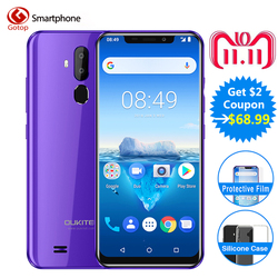 Oukitel C12 Pro Face ID 6.18Inch 19:9 U-notch Display Android 8.1 2GB RAM 16GB ROM MT6739 3300mAh Battery 8MP+5MP 4G Smartphone