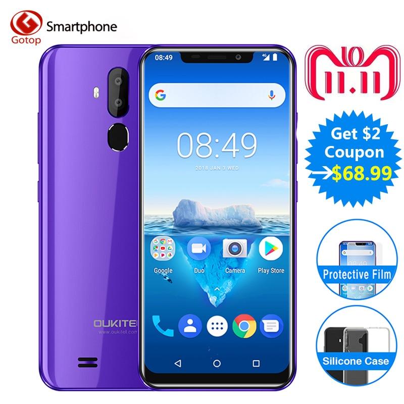 Oukitel C12 Pro cara ID 6,18 pulgadas 19:9 U primera pantalla Android 8,1 2 GB RAM 16 GB ROM MT6739 3300 mAh batería 8MP + 5MP 4G Smartphone