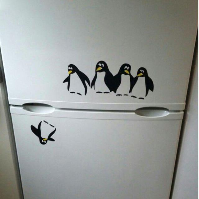 Fridge Sticker Funny Penguin Fridge Decals Dining Room Kitchen - Wall decals dining room