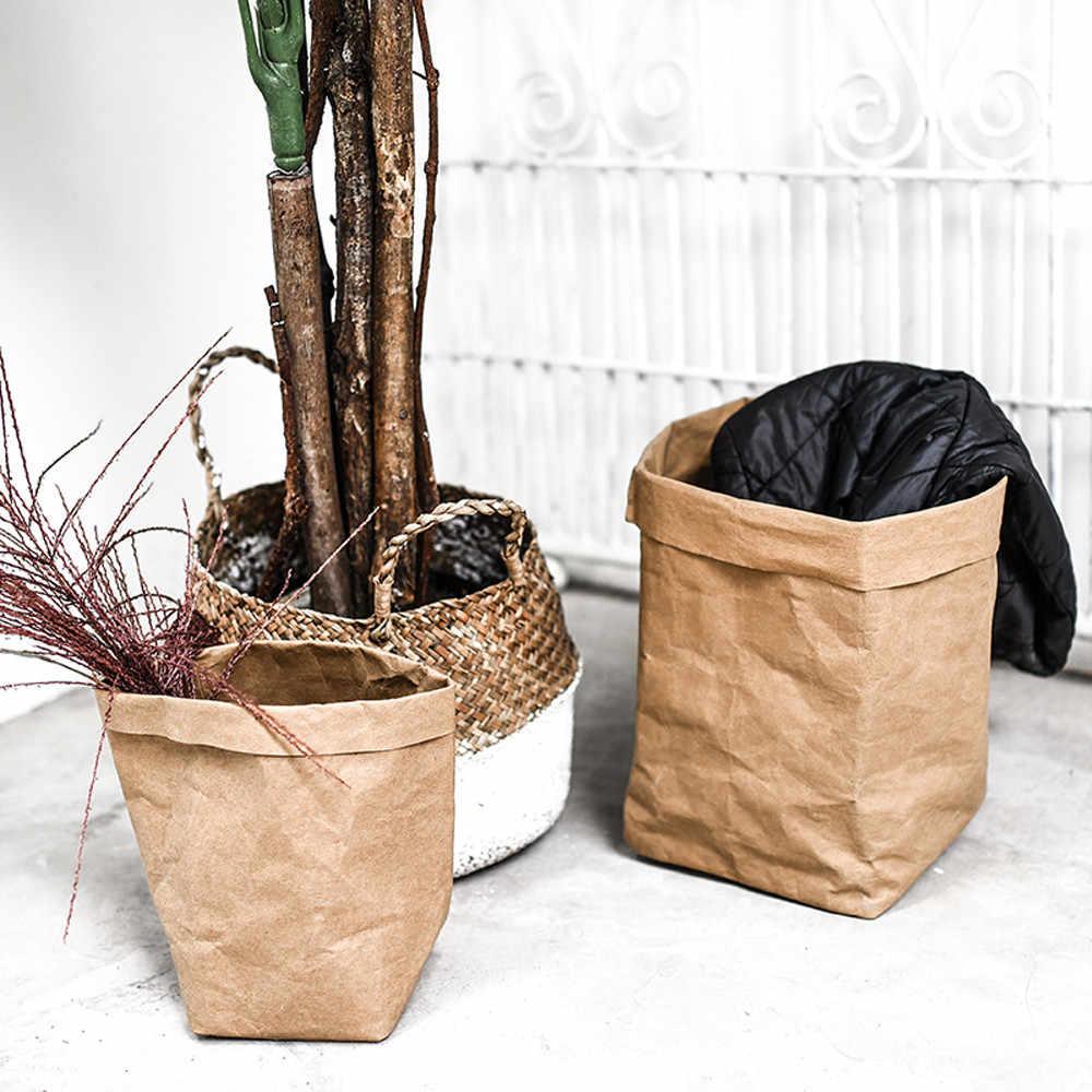 Organizer do kuchni zmywalny torebka z papieru pakowego roślina kwiaty garnki wielofunkcyjna torba do przechowywania pojemników akcesoria do dekoracji wnętrz