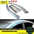 Estilo do carro Pala Janela Toldos Abrigos Para CX-5 2013 2014 2015 Adesivos de Carro-Styling Acessórios Guarda Chuva Escudo