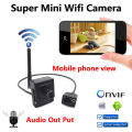 New Super Mini Câmera IP sem fio 720 P câmeras de CCTV wi-fi Câmera de áudio e vídeo H.264 indoor Menor 1.0MP P2P home security cam