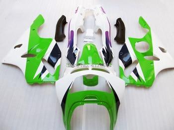100%NEW Green white fairing kit For KAWASAKI NINJA ZX6R 94-97 ZX-6R ZX 6R 94 95 96 97 #y6s ZX 6R 1994 1995 1996 1997 Fairing Kit