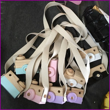 Ins room hanging decorations wooden travel in toy camera kids color