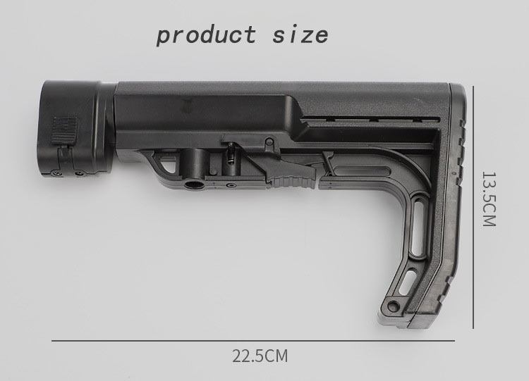 Image 3 - Tactical CS0911 Extensible Back Stock Parts Airsoft Hunting Gel Water Bomb Adjustable Toy Gun Rear Butt Accessories-in Hunting Gun Accessories from Sports & Entertainment