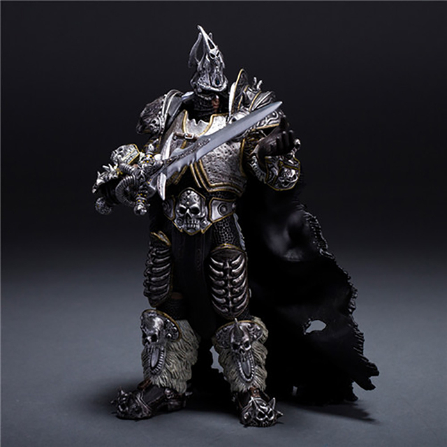 wow Lich King Arthas Death Knight  PVC Action Figure Collectible Model Toy
