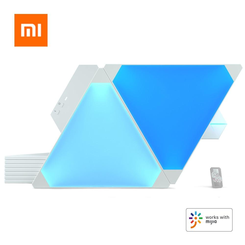 Paneles de luz originales Nanoleaf, a todo Color, inteligentes y Odd, funcionan con Mijia, para Apple Homekit, Google Home, 9 Uds./1 caja