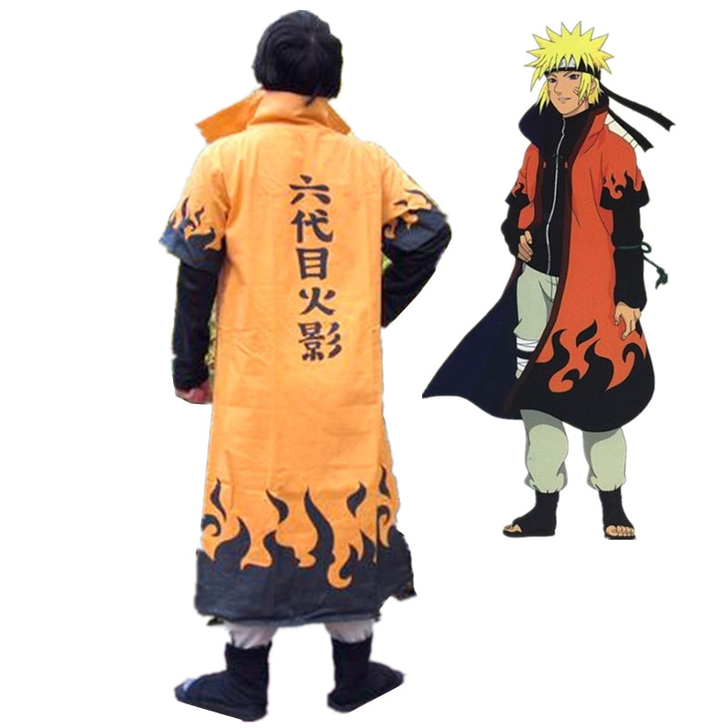 2019 HOT Anime Yondaime Hokage Hatake Kakashi Cloak Cosplay Costumes Uniform