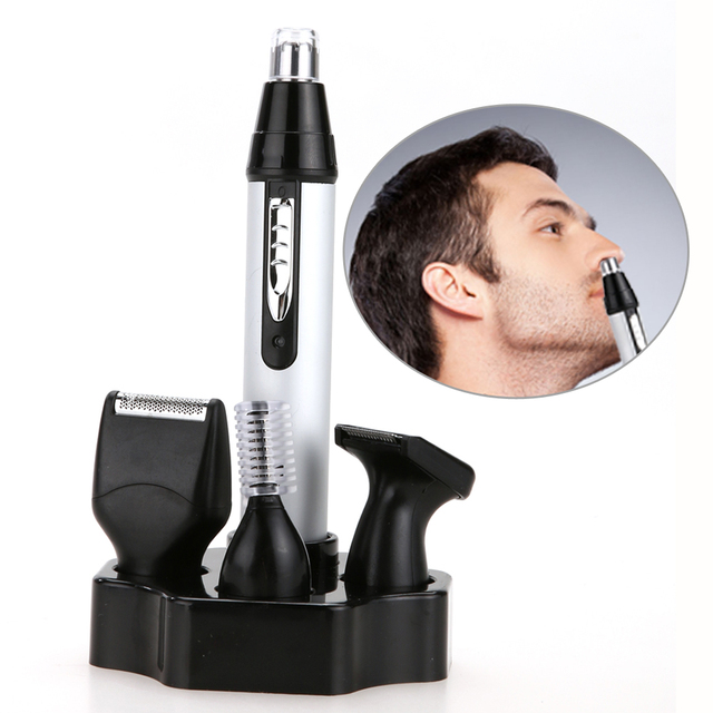 Personal Face Care Electric 4 in1 Nose Trimmer for Men Rechargeable Hair Removal Face Eyebrow Ear Trimmer GUB#