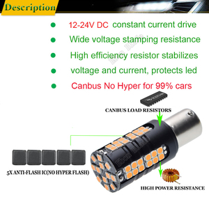 Image 3 - 2X LED Car Bulb Canbus No Error Hyper Flash Turn Signal Light Amber Orange 1156 BA15S P21W BAU15S PY21W T20 7440 W21W WY21W 3156