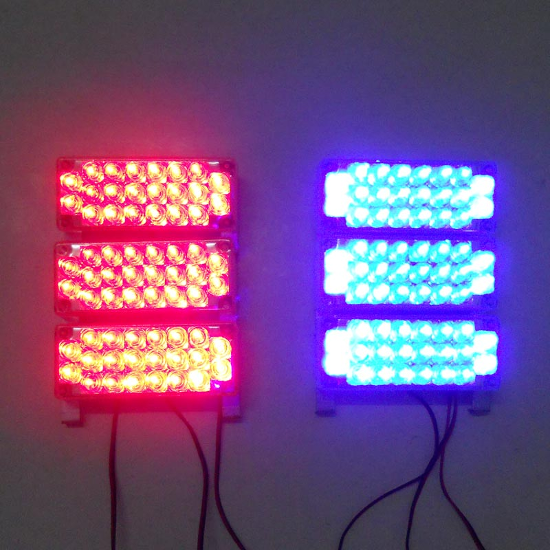 ФОТО 6x22 LED Car Strobe Light Flash Warning light source auto accessories car styling and parking Red Blue White Green Amber Yellow