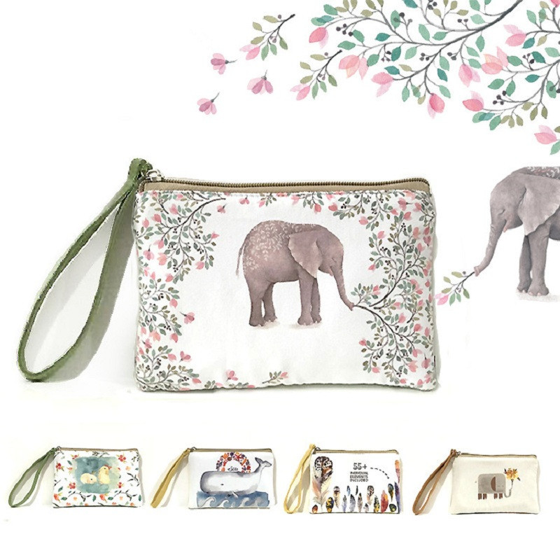 2018 New Cartoon Women's Purse Ladies Day Clutches Coin Purses Vintage Women Storage Bags Purse for Coins Women Wallet Pouch H22