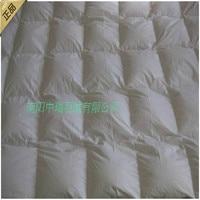 95% белый липкой утка пуховое одеяло и зимнее одеяло и 80 Чистый хлопок атласная ткань one piece