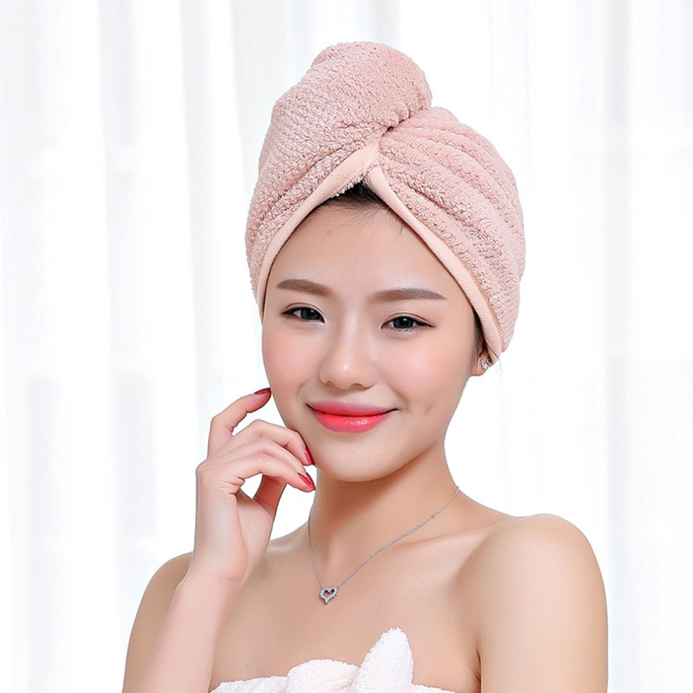 Microfiber Hair Towel Quick Magic Hair Dry Hat Turban Twist Hair Towel Wrap Head TowelQuick Dry Super Absorbent
