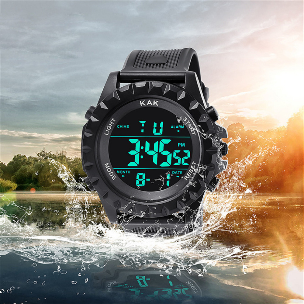 Digital Watches Men Sport Reloj Hombre 30M Waterproof Men LED Digital Dual Military Movement Watch Electronics Homme Montre MMD5
