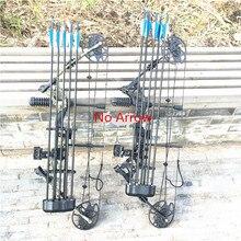 Составный шкив лук и комплекты стрел 30-70 фунтов Регулируемый лук охота на открытом воздухе Охота стрельба