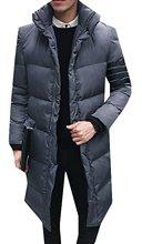 Jaycargogo Мужские Зимой Толстые Мягкие Длинные Пальто