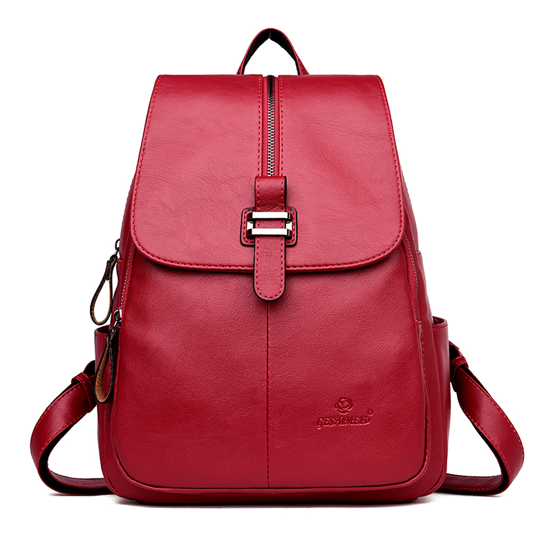New Brand Casual Style Women Backpack Vintage Big Capacity Daypack Daily Travel Bag PU Leather Youth Girls Zipper School Bags cool walker vintage casual new style women leather backpack school bags high quality women famous brand backpack rivet zipper