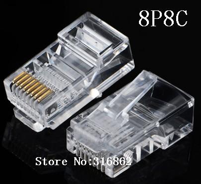 20 шт. RJ45 RJ-45 Ethernet-кабели Модуль Сетевой разъем для UTP Cat5 Cat5E сетевой кабель Кристалл головки 8p8c