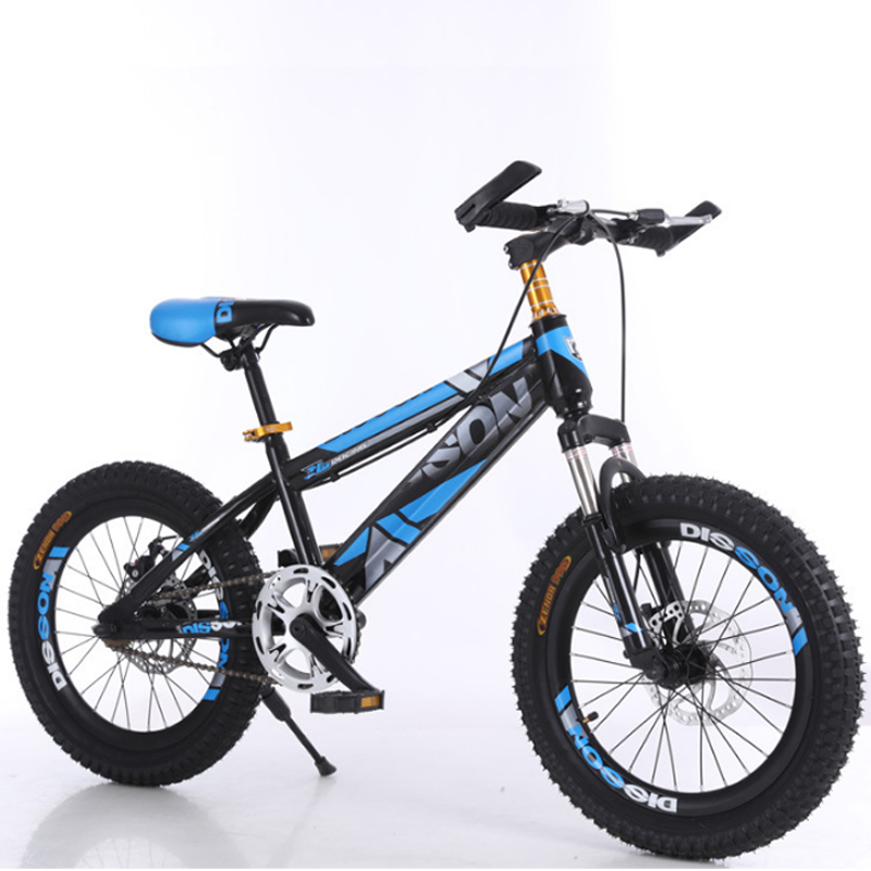 18/20 Inch Mountain Bike Children Bicycle Front And Rear Disc Brakes Single Speed Children's Bicycle Gift For Boys And Girls
