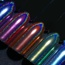 0.5 г голографическим эффектом хамелеона Единорог Русалка ногтей Косметическая пудра зеркало Дизайн ногтей Chrome пигмент