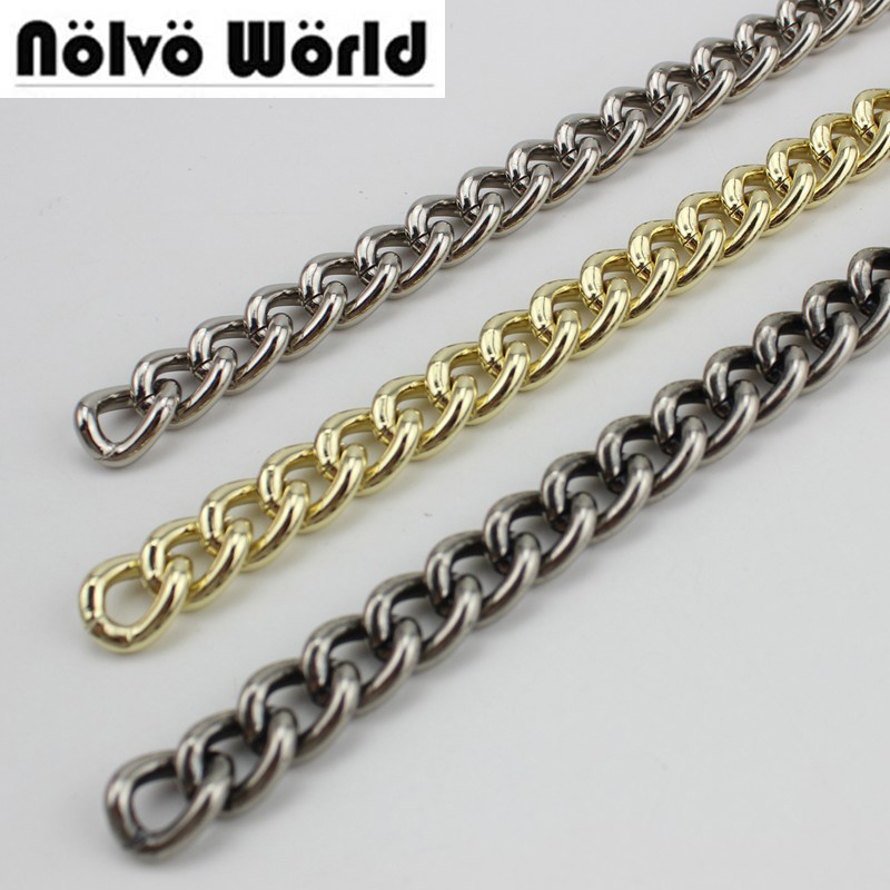 все цены на 5 meters 6colors Alumin Chain 4.0mm Line 14mm Roller metal BIG Light Alum chain for hand bags long strap replacement онлайн