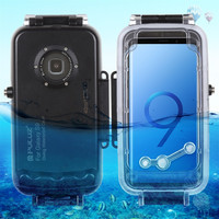 For Galaxy S9 5.8 Inch Diving Phone Protective Case Waterproof Swim Dive Shell Luxury Shockproof Bumper Non-slip Transparentr