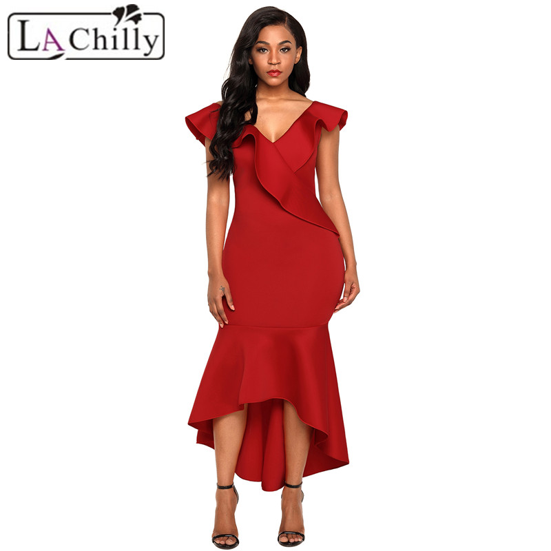 La Chilly Sommer Kleid 2018 Womens clothing Summer dress Black ...