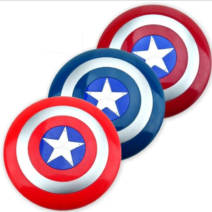 32CM Luminous Marvel The Avengers Captain America Shield Sound Light Cosplay Toy Shields Captain America Shield Action Figure 2016 the avengers civil war 1 1 captain america shield 1 1 steve rogers replica abs model figure cosplay