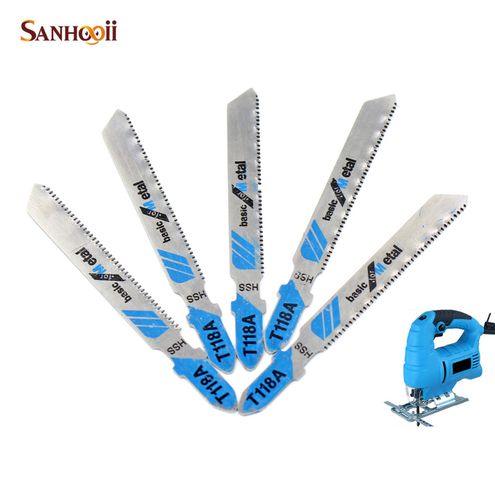 SANHOOII 5in1 T118A Alloy Steel Curve Saw Blade Thin Metal Plate Cutting Blade For Household Electric Saw Sawing Machine