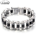 SDA Top Quality Europe style 1inch wide 316L Stainless Steel link Motorcycle chain Bracelet for men's jewelry YM033