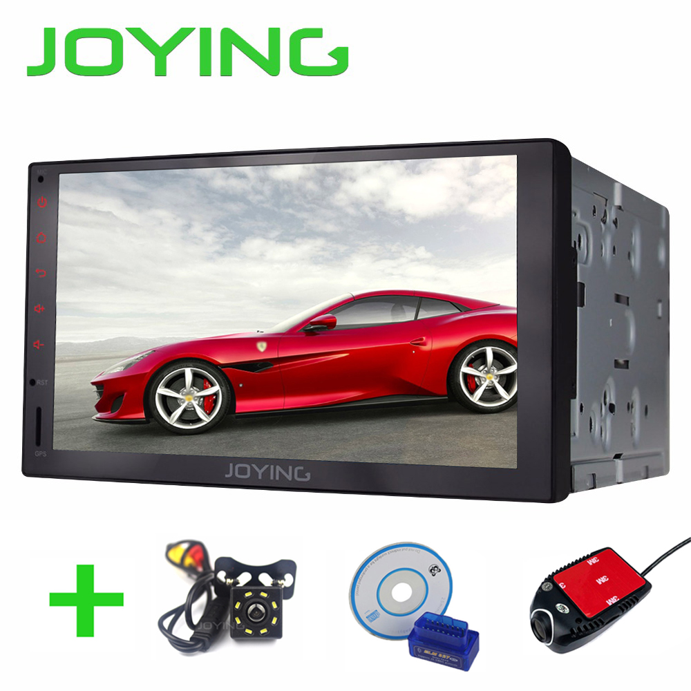JOYING 7 Android 6.0 Car Stereo Radio Quad Core 1024*600 2 Din Autoradio Full Touch Screen Head Unit GPS Player Tape Recorder universal 1 din car radio gps android quad core car styling 7 touch screen 1024 600 head unit bluetooth am fm radio car stereo
